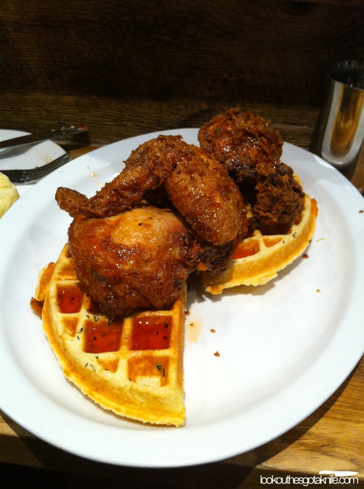 Chicken & waffles; an example of salty, sweet, fatty and spicy balance.